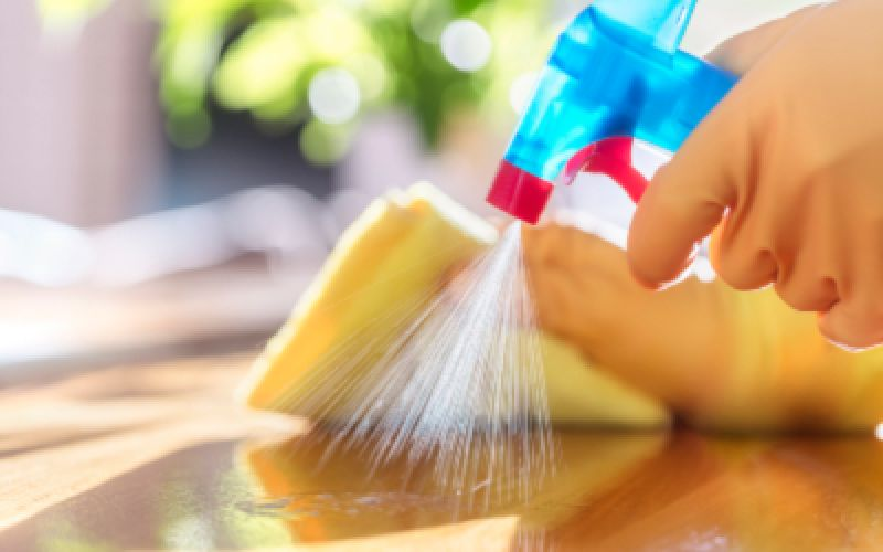 What surfaces should we regularly disinfect throughout the day