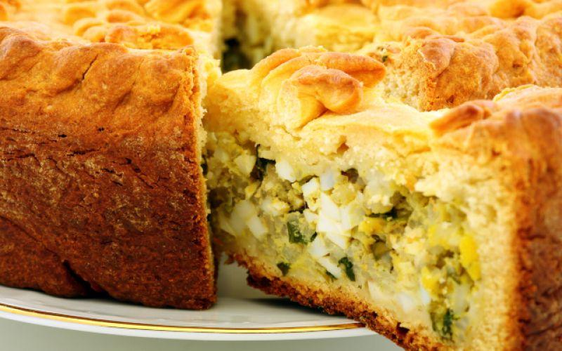 Vegan Seasoned Pie with Corn flour